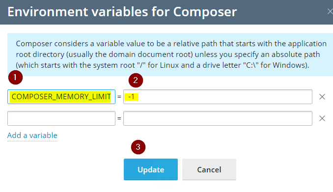 Plesk PHP Composer Memory Limit Will Not Update