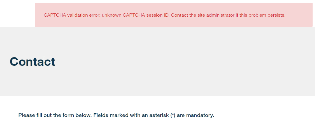 Drupal CAPTCHA ReCaptcha validation error: unknown CAPTCHA session ID